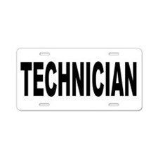 Technician Aluminum License Plate