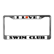 Swim Club License Plate Frame