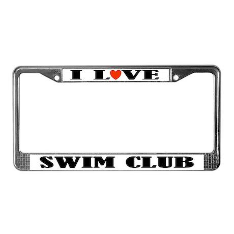 Swim Club License Plate Frame