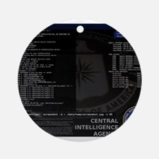 cia unix Ornament (Round)