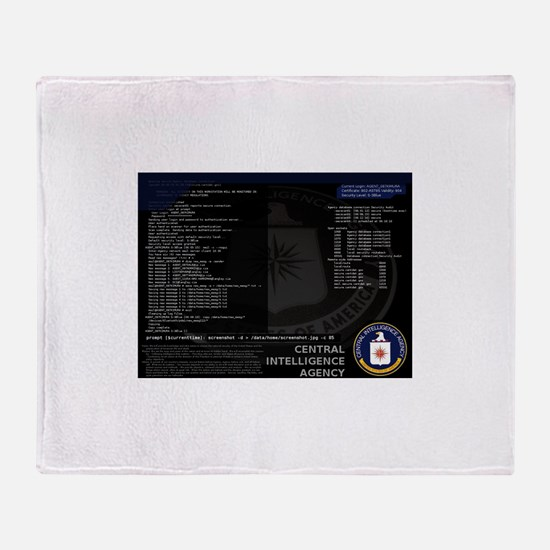 cia unix Throw Blanket