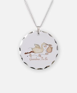 Grandma To Be (SP) Necklace Circle Charm