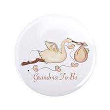 "Grandma To Be (SP) 3.5"" Button"