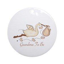 Grandma To Be (SP) Ornament (Round)