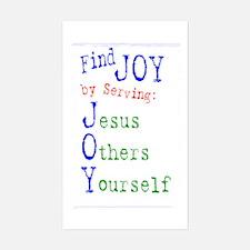 Find Joy in serving Jesus Oth Sticker (Rectangular