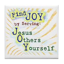 Find Joy in serving Jesus Oth Tile Coaster