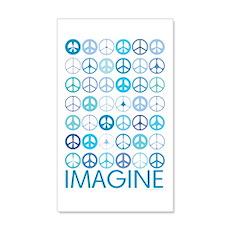 Imagine Peace Signs 22x14 Wall Peel