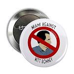 Miami Against Mitt Romney campaign button