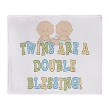 Double Blessing Twins Throw Blanket