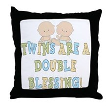 Double Blessing Twins Throw Pillow