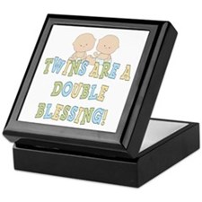 Double Blessing Twins Keepsake Box