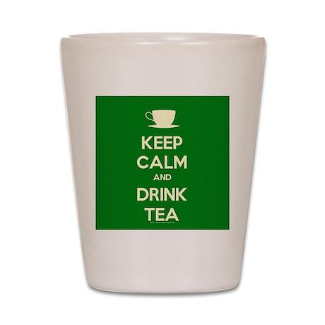 Keep Calm & Drink Tea (Green) Shot Glass