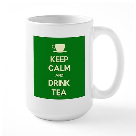 Keep Calm & Drink Tea (Green) Large Mug