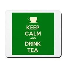 Keep Calm & Drink Tea (Green) Mousepad