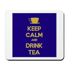 Keep Calm & Drink Tea (Dark Blue) Mousepad