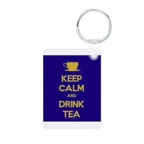 Keep Calm & Drink Tea (Dark Blue) Aluminum Photo K