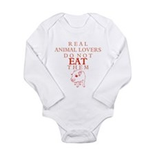 'Real Animal Lovers' Long Sleeve Infant Bodysuit