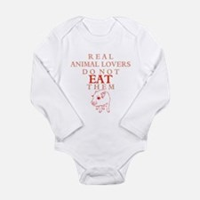 'Real Animal Lovers' Long Sleeve Infant Bodysuit