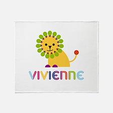 Vivienne the Lion Throw Blanket