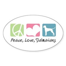 Peace, Love, Dalmatians Decal