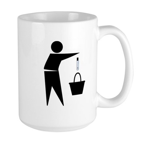 Put the Lotion in the Basket Large Mug