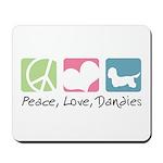 Peace, Love, Dandies Mousepad