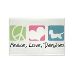 Peace, Love, Dandies Rectangle Magnet (100 pack)