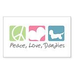 Peace, Love, Dandies Sticker (Rectangle 10 pk)