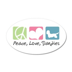 Peace, Love, Dandies 38.5 x 24.5 Oval Wall Peel