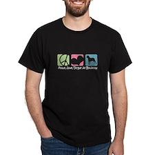 Peace, Love, Dogue de Bordeaux T-Shirt
