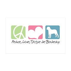 Peace, Love, Dogue de Bordeaux 38.5 x 24.5 Wall Pe