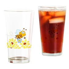 Cartoon Honey Bee Drinking Glass