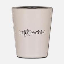 B/W UnBEElievable Shot Glass