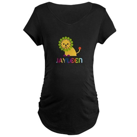 Jayleen the Lion Maternity Dark T-Shirt
