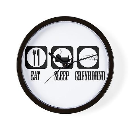 Eat Sleep Greyhound Wall Clock