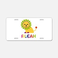 Aleah the Lion Aluminum License Plate