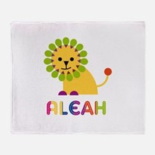 Aleah the Lion Throw Blanket