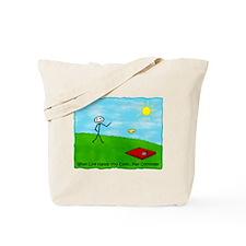 Cornhole Stick Person<br>When Tote Bag