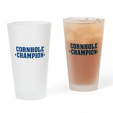 Cornhole * Champion * Drinking Glass