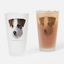 Jack Russell Headshot Drinking Glass