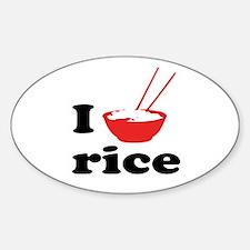 I love rice Decal