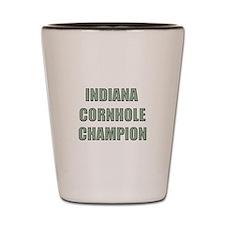 Indiana Cornhole Champion Shot Glass