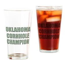 Oklahome Cornhole Champion Drinking Glass
