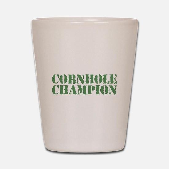 Cornhole Champion Shot Glass