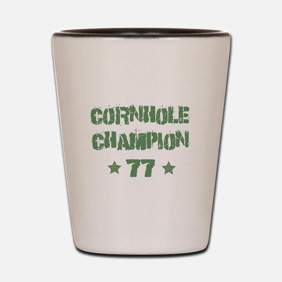 Cornhole Champion 77 Shot Glass