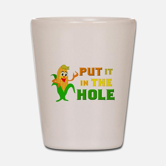 In The Hole Shot Glass
