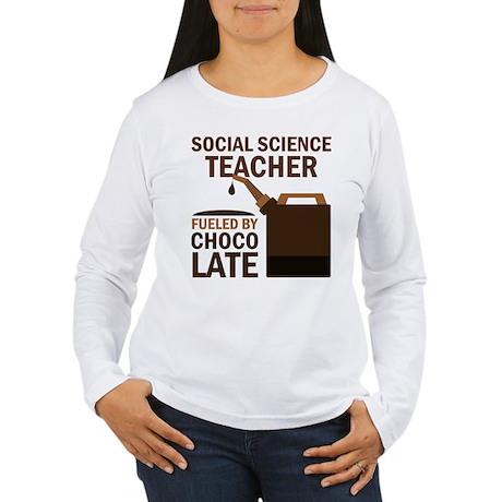 Social Science Teacher (Funny) Gift Women's Long S
