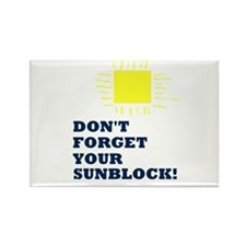 Sunblock Reminder Rectangle Magnet