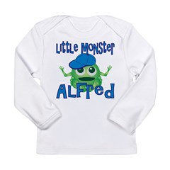 Little Monster Alfred Long Sleeve Infant T-Shirt