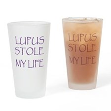 Lupus Stole My Life Drinking Glass